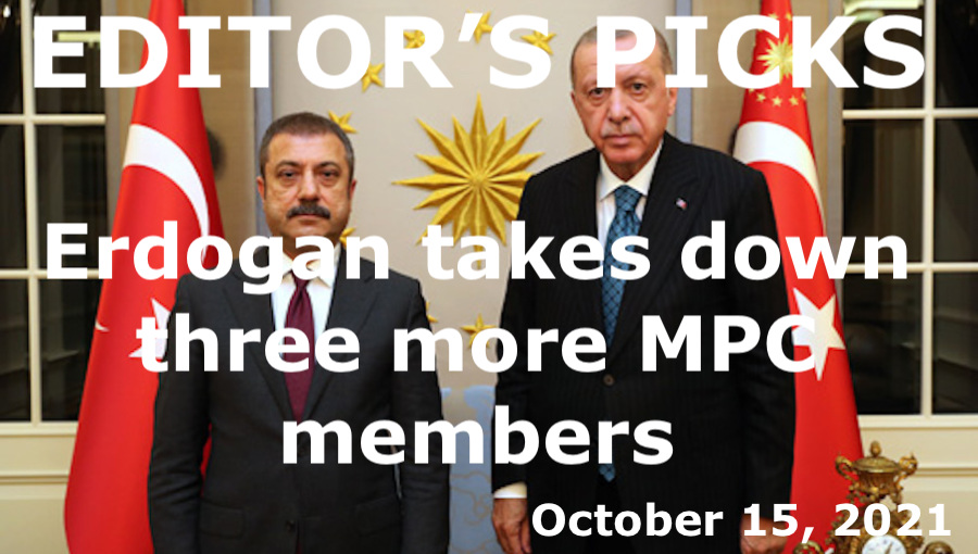 bne IntelliNews Editor's Picks --  Erdogan takes down three more MPC members