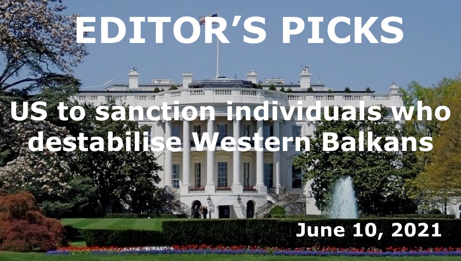bne IntelliNews editor's picks – US to impose sanctions against individuals who destabilise Western Balkans