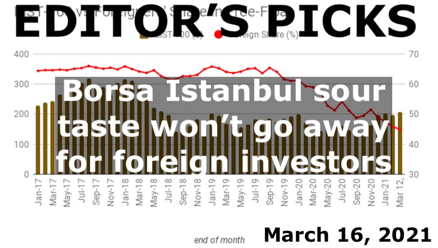 bne IntelliNews Editor's Picks --  Borsa Istanbul sour taste won't go away for foreign investors