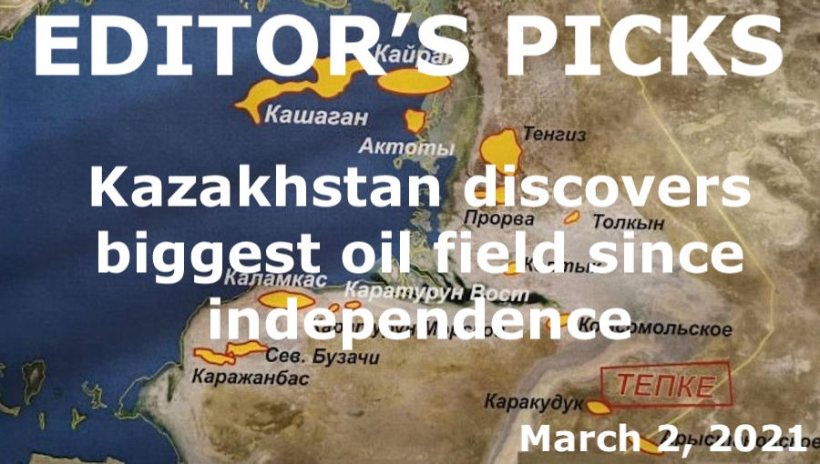 bne IntelliNews Editor's Picks --  Kazakhstan announces discovery of largest reservoir of hydrocarbons since independence