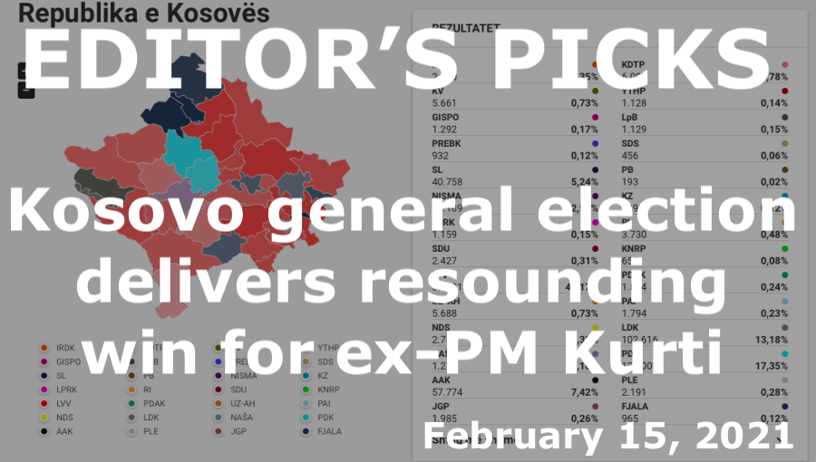 bne IntelliNews Editor's Picks --  Kosovo general election delivers resounding win for ex-PM Kurti