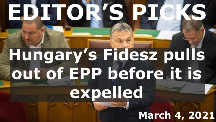 bne IntelliNews Editor's Picks -- Hungary's Fidesz pulls out of EPP before it is expelled