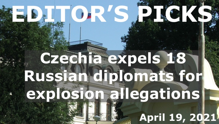 bne IntelliNews Editor's Picks --  Czechia expels 18 alleged agents from Russian embassy after accusing Kremlin of causing explosion