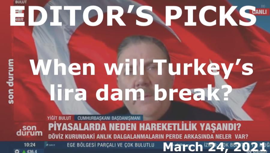 bne IntelliNews Editor's Picks --   ISTANBUL BLOG: When will the lira dam break?