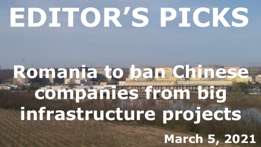 bne IntelliNews Editor's Picks --  Romania to ban Chinese companies from big infrastructure projects