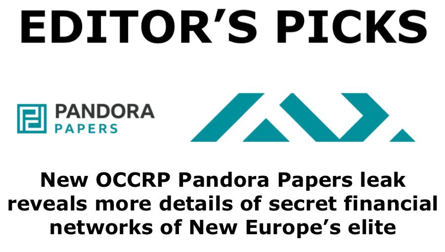 bne IntelliNews Editor's Picks --  New OCCRP Pandora Papers leak reveals more details of secret financial networks of New Europe's elite