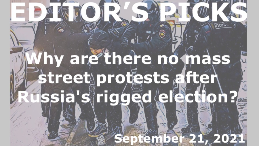 bne IntelliNews Editor's Picks --  MOSCOW BLOG: Why are there no mass street protests after Russia's rigged Duma election?