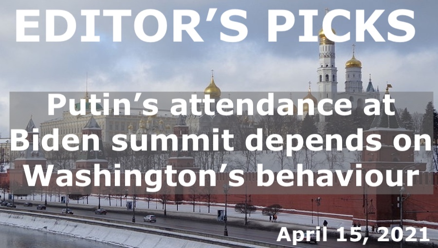 bne IntelliNews Editor's Picks --  Putin's attendance at a summit with Biden will depend on Washington's behaviour