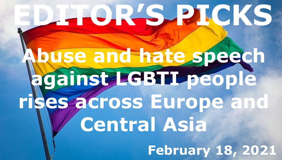 bne IntelliNews Editor's Picks --  Abuse and hate speech against LGBTI people rises across Europe and Central Asia
