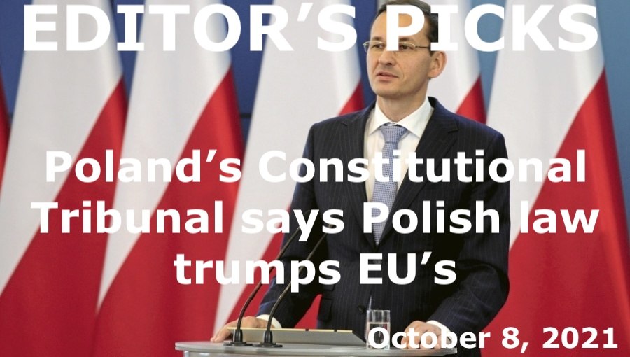 bne IntelliNews Editor's Picks --  Poland's Constitutional Tribunal says Polish law trumps EU's