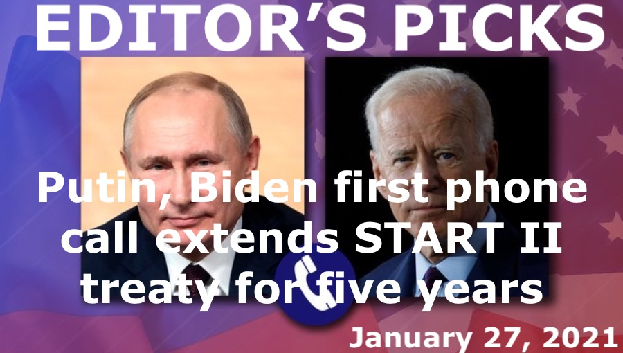 bne IntelliNews Editor's Picks --  Russian President Vladimir Putin and US President Joe Biden have first phone call, extend START II treaty for five years