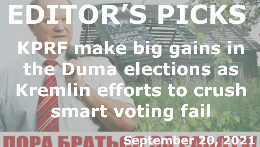 bne IntelliNews Editor's Picks --  Russia's Communists party make big gains in the Duma elections as Kremlin efforts to crush smart voting fail