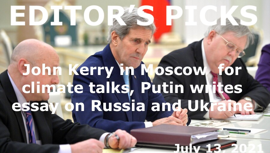 bne IntelliNews Editor's Picks --  John Kerry in Moscow to start climate change co-operation, Putin writes essay on Russia and Ukraine