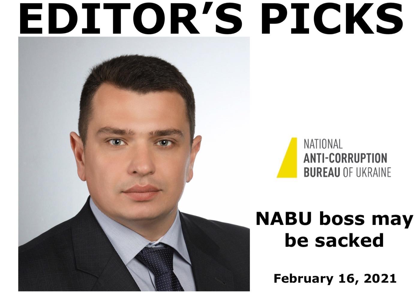 bne IntelliNews Editor's Picks --  Ukraine's Rada votes through bill to dismiss anti-corruption investigator NABU's director