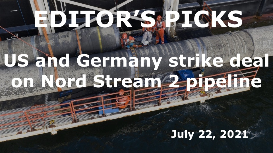 US and Germany strike deal on Nord Stream 2 pipeline