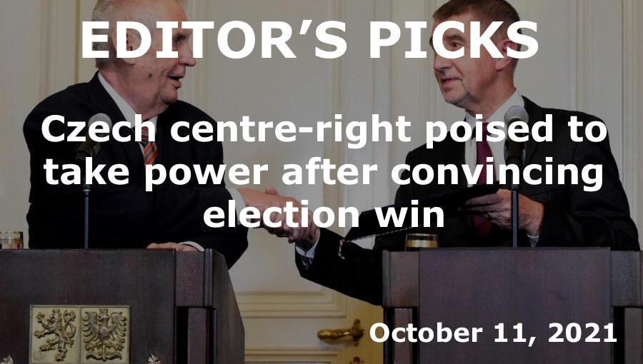 bne IntelliNews Editor's Picks -- Czech centre-right poised to take power after convincing election win