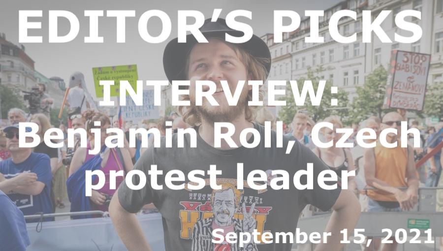 bne IntelliNews Editor's Picks --  INTERVIEW: Benjamin Roll, Czech protest leader