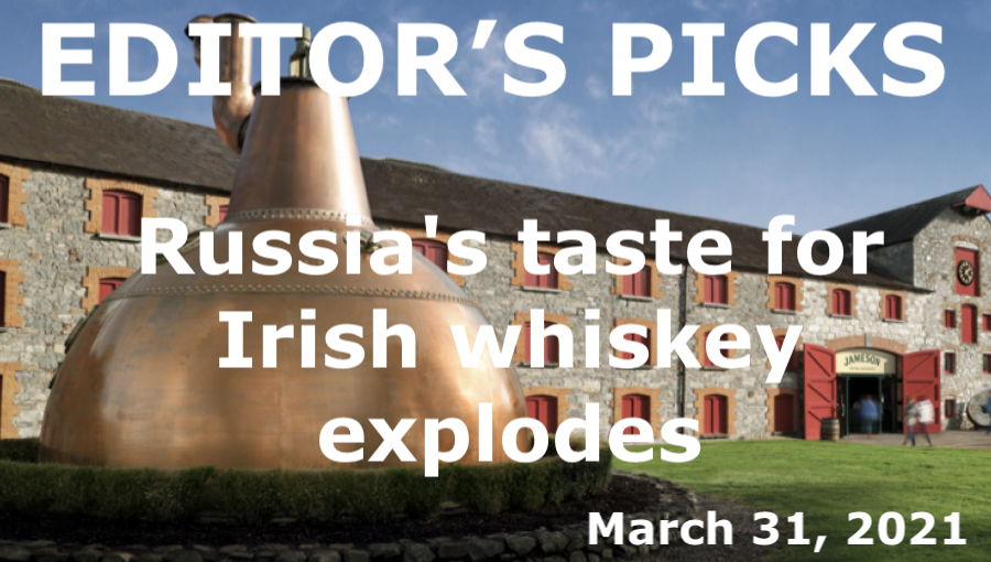 bne IntelliNews Editor's Picks --  Russia's taste for Irish whiskey explodes