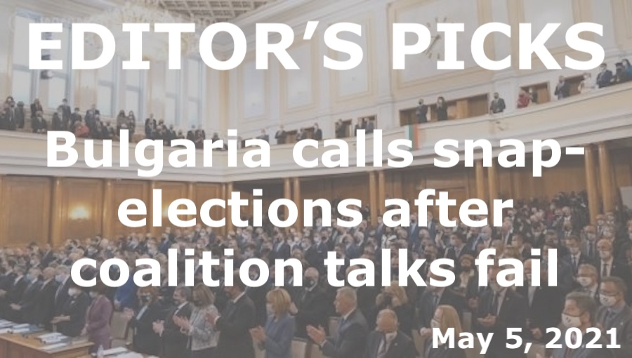 bne IntelliNews Editor's Picks --  Bulgaria calls snap-elections after coalition talks fail